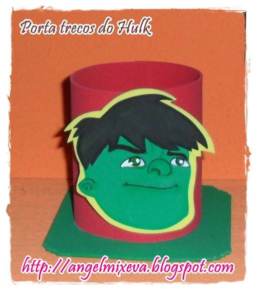 Porta trecos do Hulk