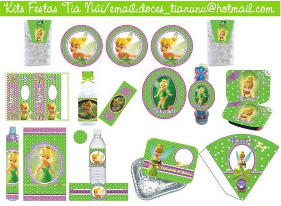 Kit Festa Digital Tinkerbell