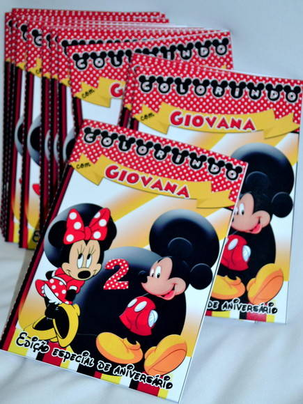 Revista de Colorir Minnie e Mickey