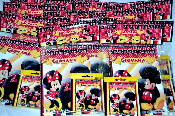 Kit de Colorir Minnie e Mickey