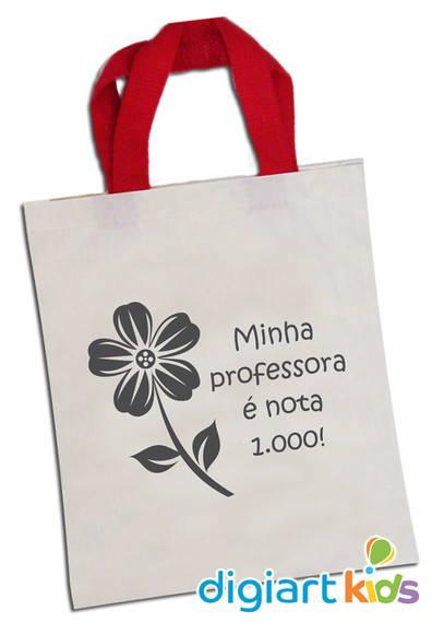 d63ad3eff Sacola Ecobag Dia Dos Professores no Elo7 | DigiArt Kids (24D870)