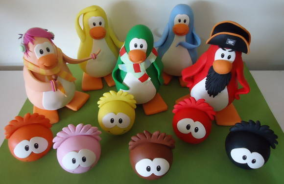 ENFEITE DE MESA DO BOLO CLUB PENGUIN