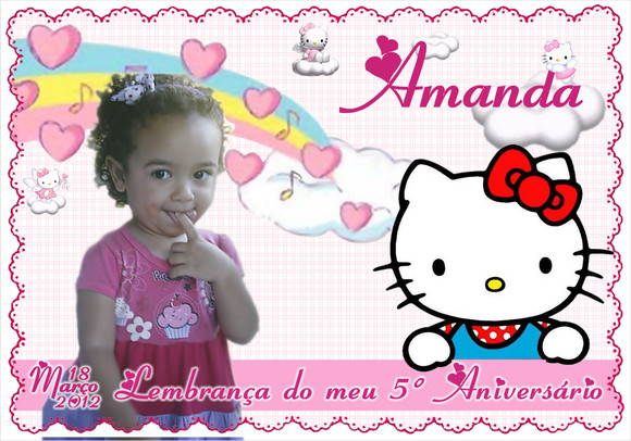 Ímã Personalizado Hello Kitty
