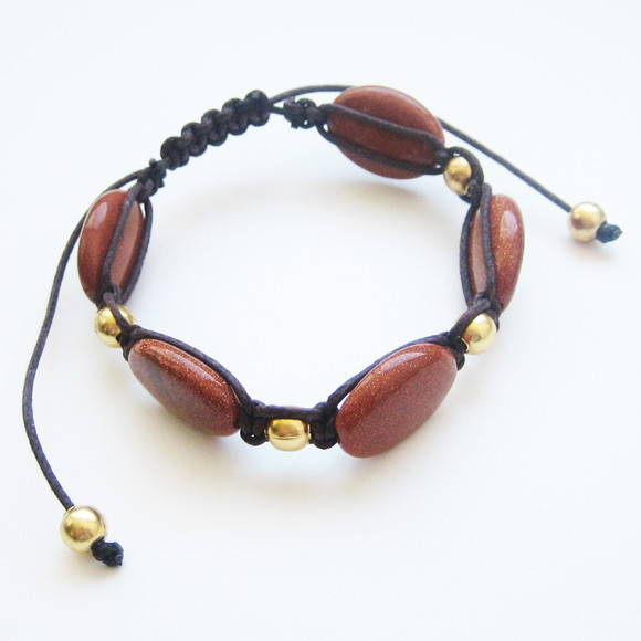 Pulseira goldstone - do