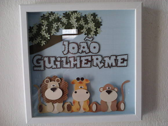 Quadro de Scrapbook de safari