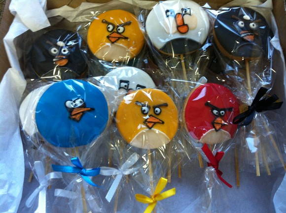 Biscoito decorado Angry Birds!!