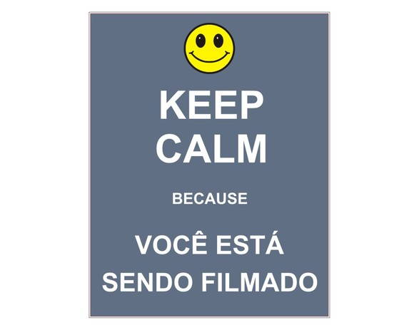Placa MDF Retrô- K Calm Filmado - 351