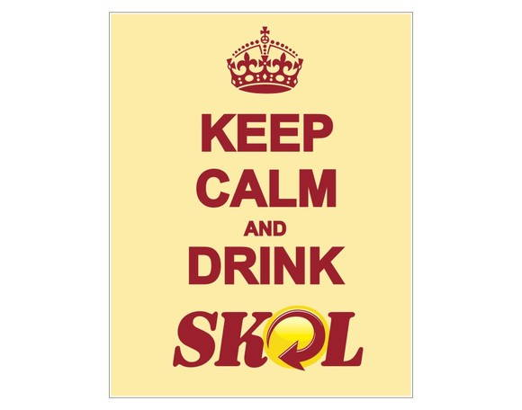 Placa MDF Retrô- Keep Calm Skol - 352