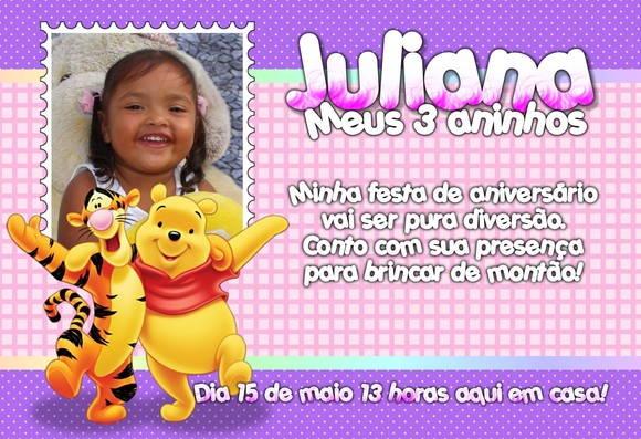 Convite Do Ursinho Pooh No Elo7 Petit Gatinha 257042