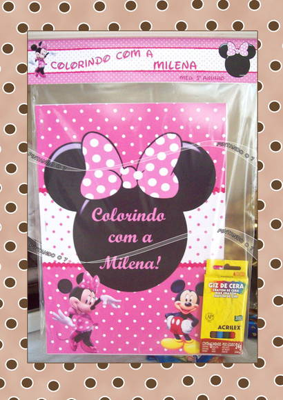 Kit de Colorir Minnie Rosa