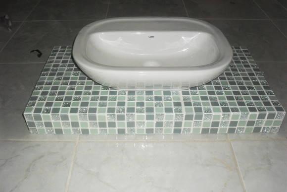 Bancada para pia banheiro  tania hellen vilhena da silva vicente  Elo7 -> Pia Banheiro Altura Padrao