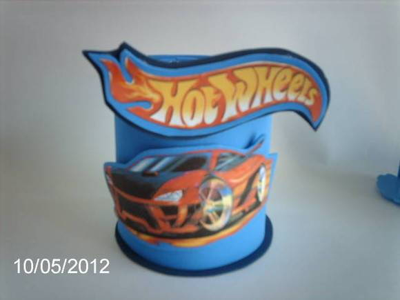 Centro de mesa Hot Wheels