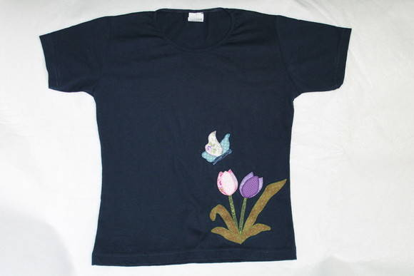 Camiseta patch aplique