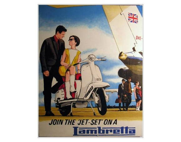 Placa MDF Retrô- Lambretta Jet Set - 341