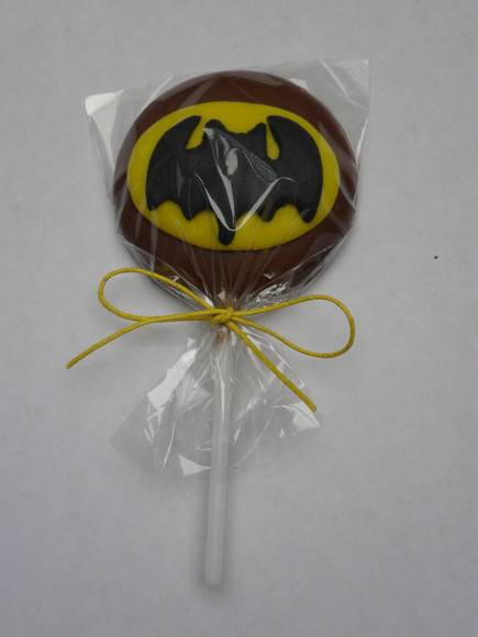 PIRULITO DE CHOCOLATE DO BATMAN
