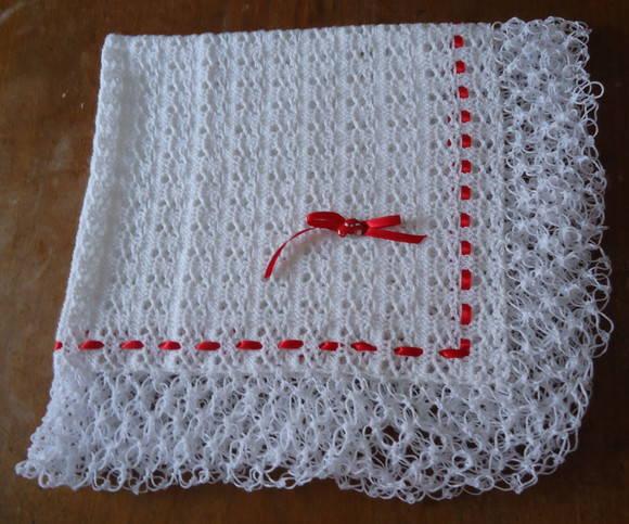 Manta de croch beb vendida carmela arte cia elo7 - Manta de crochet facil ...
