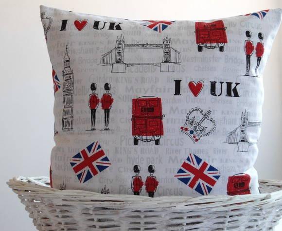 b49504ad1 Capa para almofada I love UK no Elo7