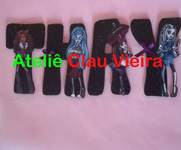 LETRAS PERSONALIZADAS MONSTER HIGH