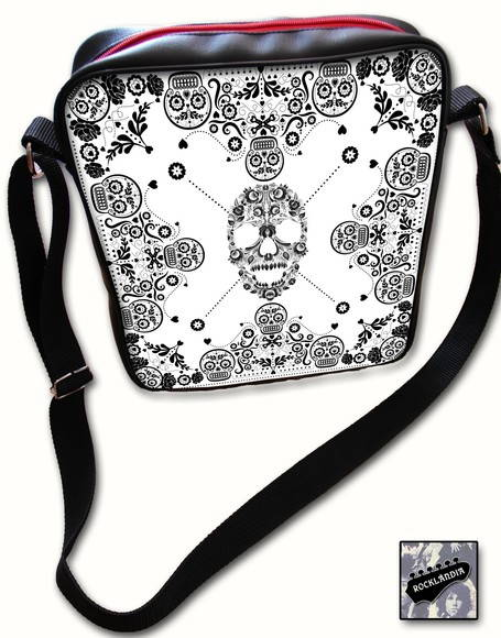 Bolsa Caveira Black and White