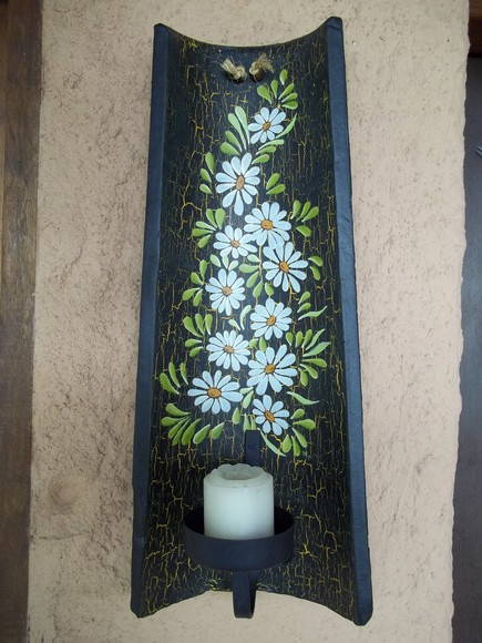 Telhas recicladas pintadas dt 04 no elo7 countryarts 2658eb - Pintar tejas de barro ...