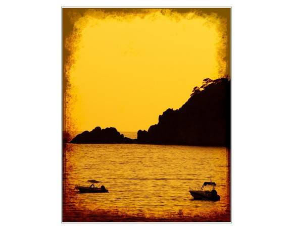 Placa MDF- Boat & Montain - 402