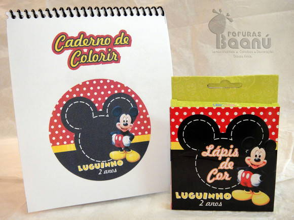 Kit de Colorir Personalizado do Mickey