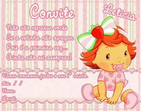 Convite Moranguinho Baby No Elo7 Lucianartspersonalizados 26771d