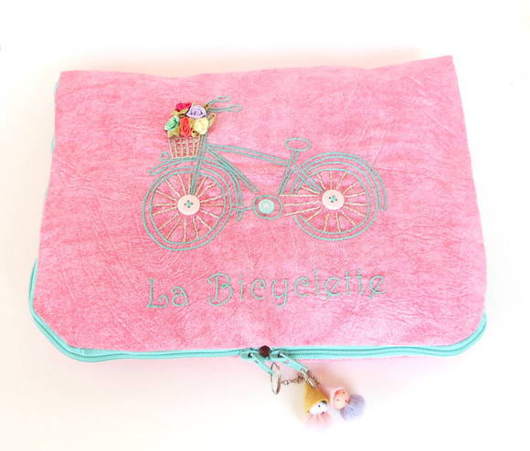 Case Netbook Bicyclette Rosa
