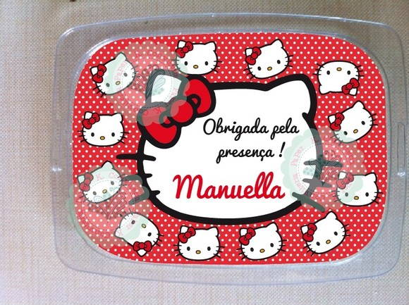 Marmita Plástica 250ml Hello Kitty