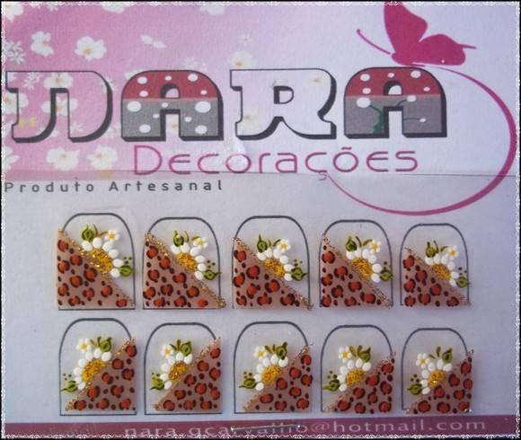 Armario Jardin Barato ~ Adesivo onça com flor Nara Decorações Elo7