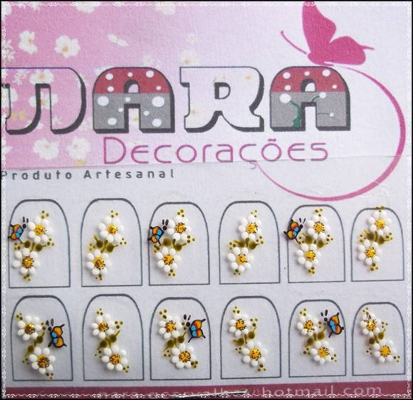 Artesanato Vila Do Conde ~ Adesivos unhas Borboletas no Elo7 Nara Decorações (26E515)