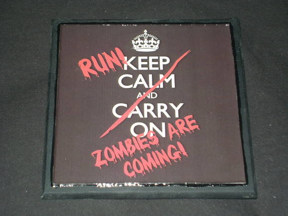Placa Keep Calm Zombies