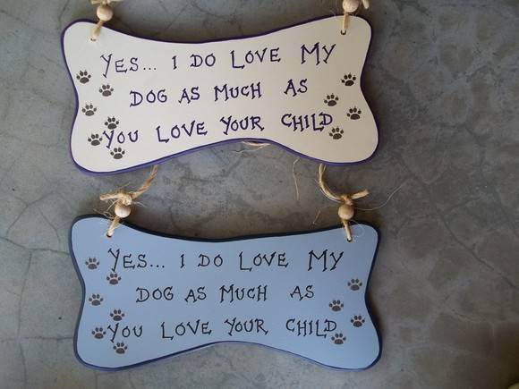 "Placa ""Love my Dog' /DP-81"