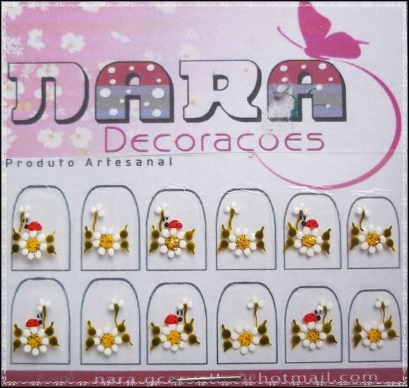 Adesivo de unha com joaninha Nara Decorações Elo7