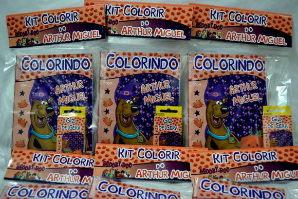 Revista kit de colorir Scooby Doo