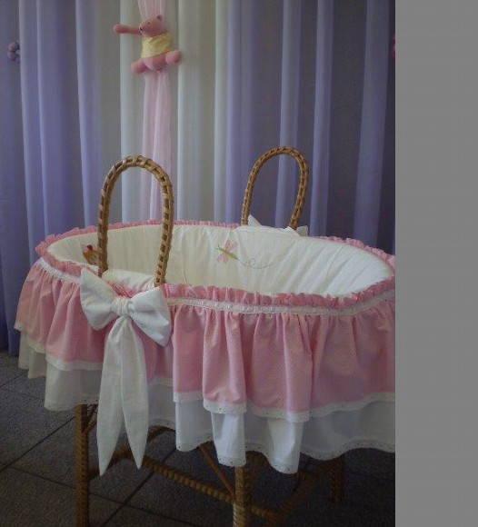Mois s cesto de vimi menina cvf 010 atelier do beb elo7 - Cesto para mantas ...