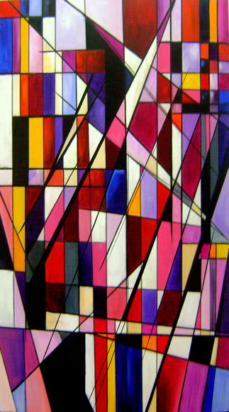 PAINEL ABSTRATO GEOMÉTRICO 60x120 COD189