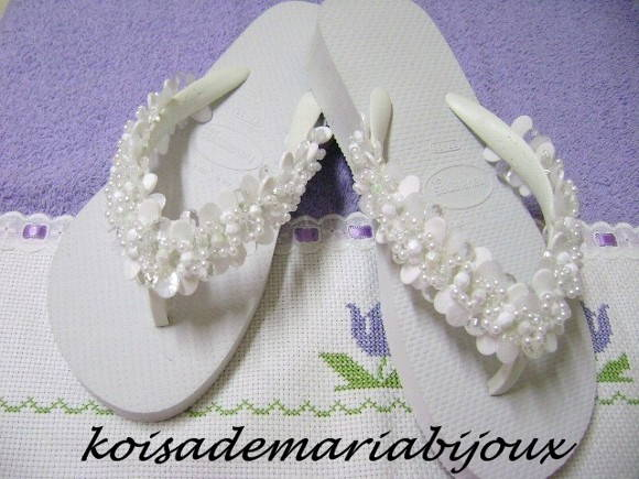 chinelo havaiana joy bordado