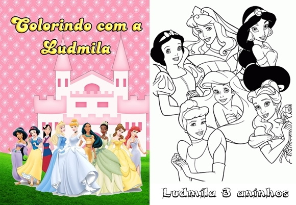 Revista colorir Princesas e Príncipes