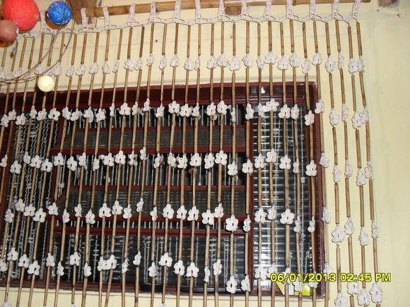 Cortina de bambu e croch denilze artesanatos elo7 - Cortina de bambu ...
