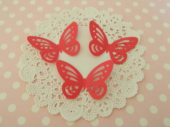 Aplique Red Butterfly (A61)