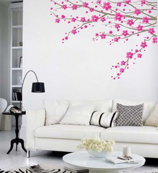 Armario Esquinero Conforama ~ Adesivo floral para parede ADESIVOS COMPRAR E COLAR Elo7