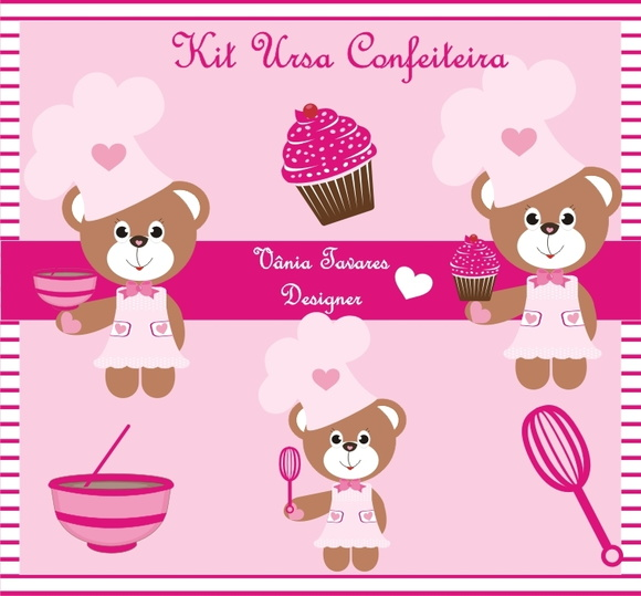 Kit Digital Ursa confeiteira