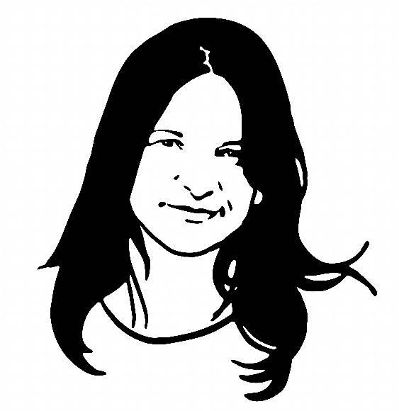 Lindo Rosto Mulher Em Preto E Branco Traco Simplificado No Elo7