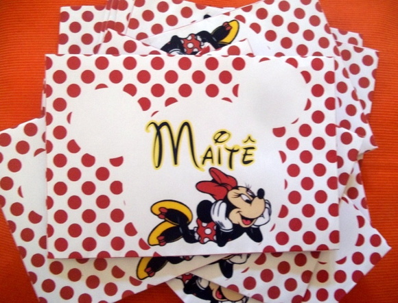 Envelope personalizado da Minnie