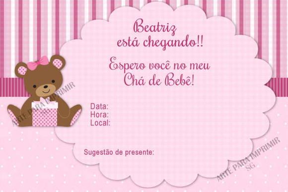 Convite Chá De Bebê No Elo7 Arte Para Imprimir 2d8a0b