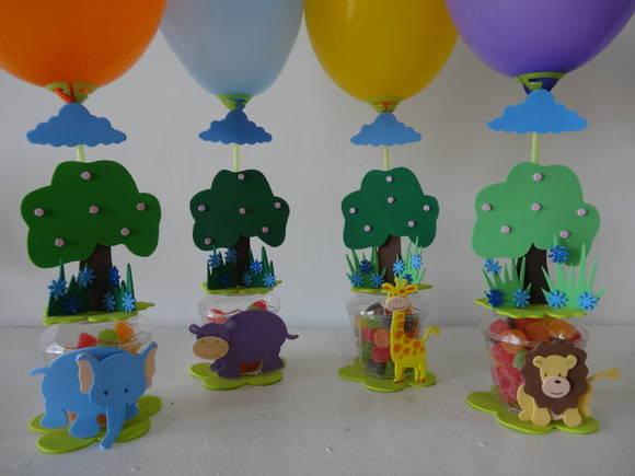 Lembrancinha Aniversário Safari - 60 Caixas
