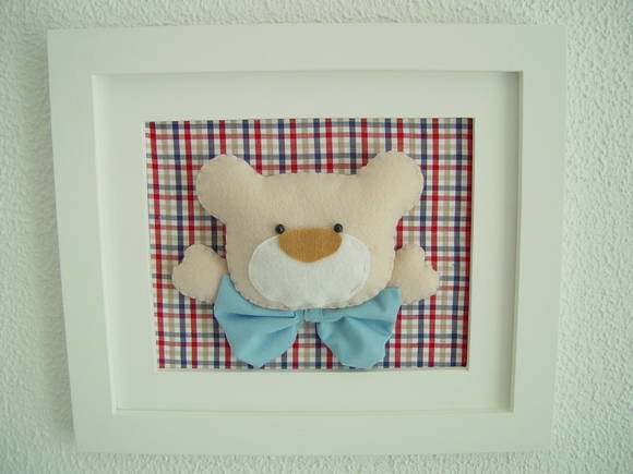 (DO 0058a) Quadro decorativo urso