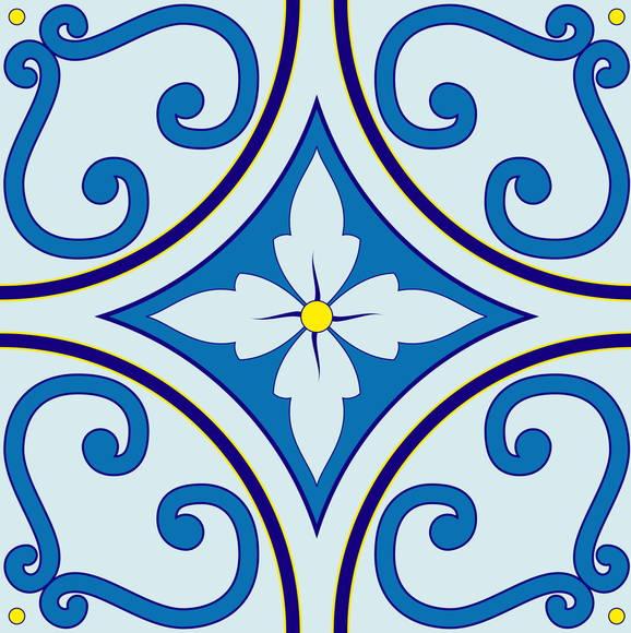 Azulejo adesivo az003 arabesco design elo7 - Ladrillo hidraulico ...
