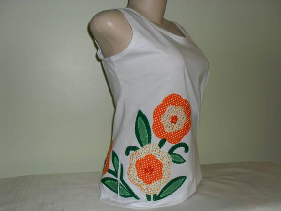 Camiseta Regata Floral 1 no Elo7  14c6975d1aa